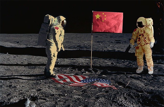 Imagem usada em apresentação do astronauta Andrew Thomas, da Nasa, em 2011