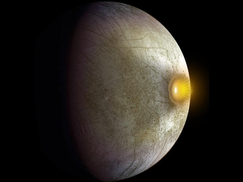 Colisão de asteroides leva material orgânico à lua joviana