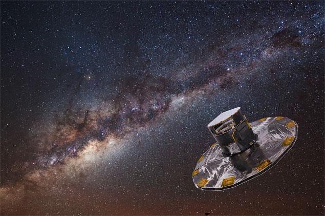 Concepção artística do satélite Gaia, da ESA (Agência Espacial Europeia)