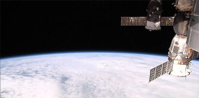 Imagem captada pelo experimento HDEV e transmitida ao vivo pela internet