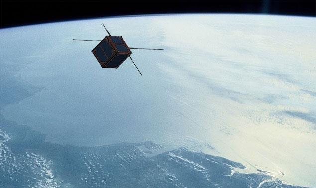 Concepção artística do NanoSatC-Br1, primeiro nanossatélite brasileiro a operar no espaço