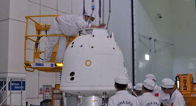 Cápsula da espaçonave Chang'e 5-T1, que será lançada ainda neste ano com formas de vida a bordo.