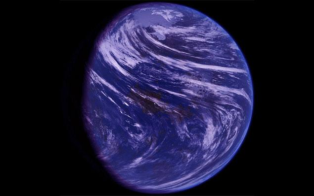 Concepção artística de como Vênus pode ter sido em seu primeiro bilhão de anos.