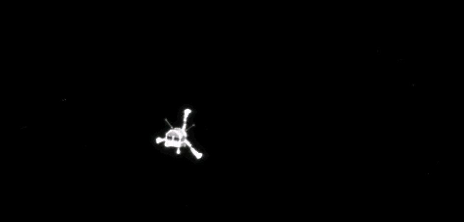 """Rosetta dá """"adeus"""" ao Philae, a caminho do histórico pouso no cometa Churyumov-Gerasimenko."""