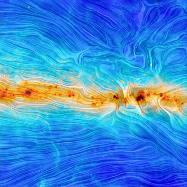 Imagem revela a polarização do campo magnético do meio interestelar