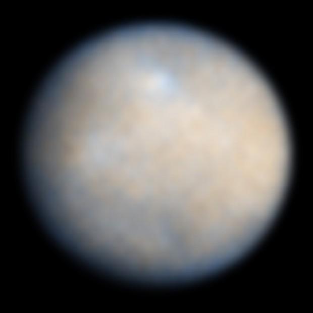 A melhor imagem que temos hoje de Ceres, feita pelo Hubble em 2004 (Crédito: Nasa/ESA)