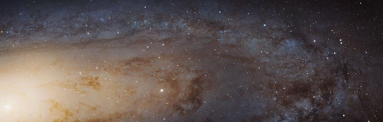 A visão mais detalhada já produzida da galáxia de Andrômeda, obra do Telescópio Espacial Hubble (Crédito: Nasa/ESA/STScI)