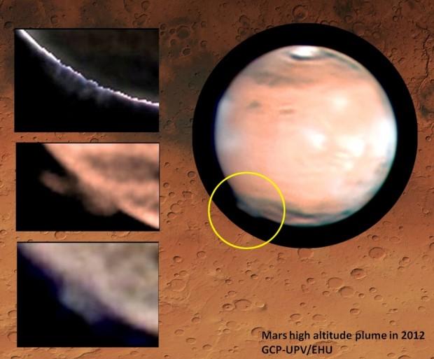 Imagens revelam estranhas plumas a 250 km de altitude no planeta vermelho. Mistéééério.