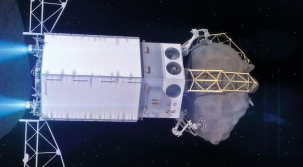 Pegando um pedaço de asteroide e levando até a órbita lunar para visitação. Será?(Crédito: Nasa)