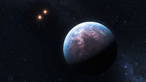 Planetas similares à Terra podem revelar a presença de vida na luz que emana de sua superfície. (Crédito: ESO)