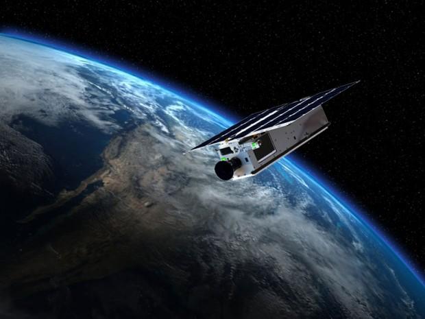 Concepção artística do Arkyd-3, primeiro protótipo de telescópio espacial (Crédito: Planetary Resources)