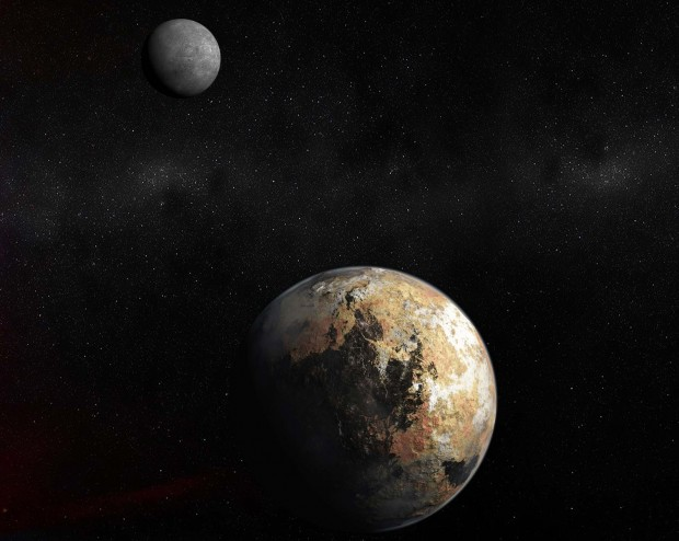 Concepção artística de Plutão, prestes a ficar velha com a passagem da New Horizons (Crédito: Nasa)