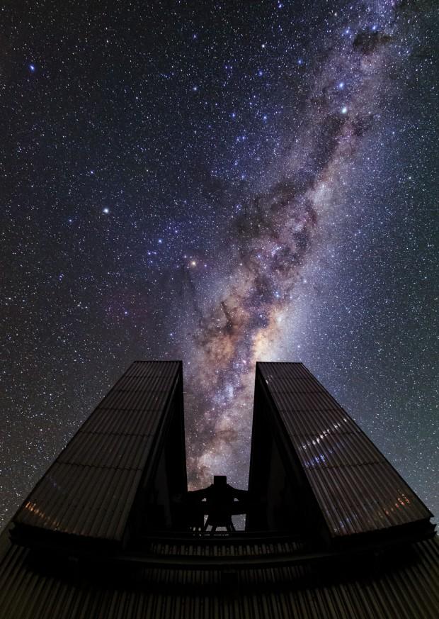 O observatório de La Silla, no Chile, é equipado com um espelho de 3,6 metros (Crédito: ESO)