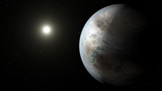 Concepção artística do Kepler-452b visto do espaço (Crédito: Nasa)