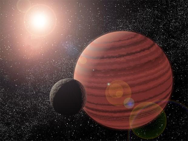 OGLE-2013-BLG-0723: Sol-planeta-lua ou sol-anã marrom-planeta? (Crédito: Caltech)