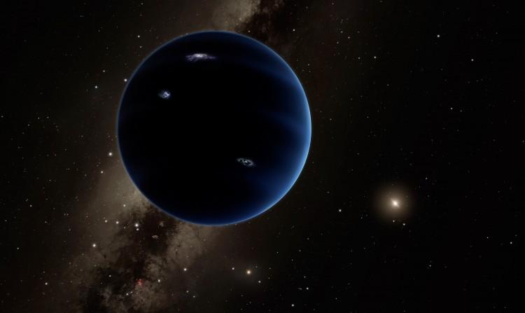 Concepção artística do cada vez menos hipotético nono planeta do Sistema Solar (Crédito: Caltech)