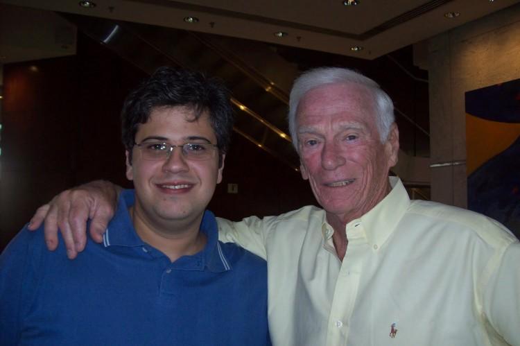 O Mensageiro Sideral e Gene Cernan, depois de uma entrevista incrível em 2010. (Crédito: Salvador Nogueira/arquivo pessoal)