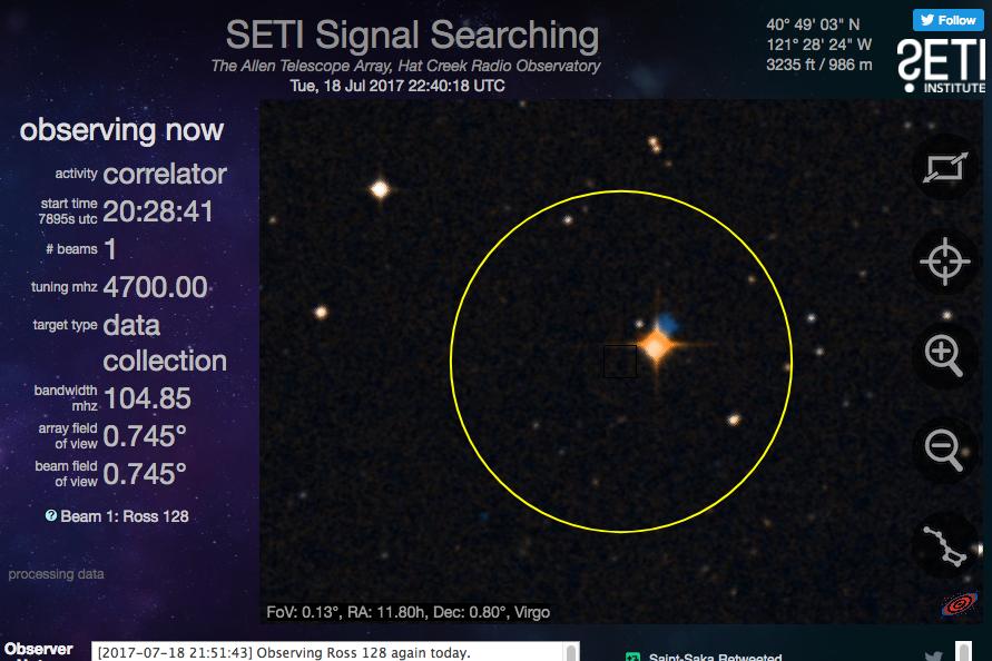 4aa974f3 Sinal de rádio vindo de Ross 128, estrela a 11 anos-luz de distância,  intriga astrônomos